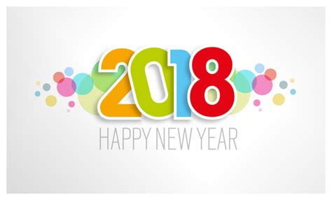 new year 2018 color light color 2018 new year background vector vector