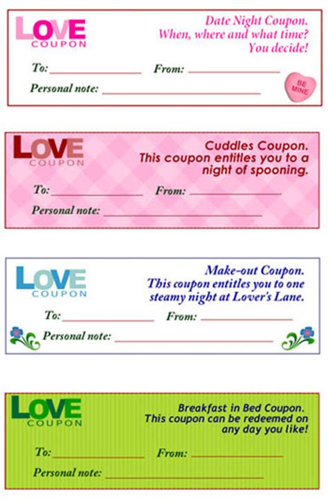 free printable adult love coupons