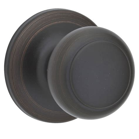Kwikset Rubbed Bronze Door Knobs by Shop Kwikset Cove Venetian Bronze Passage Door Knob