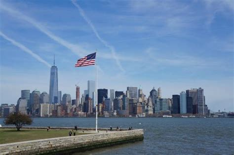 Pedestal Tickets Statue Of Liberty View Over Lower Manhattan From Ellis Island Picture Of