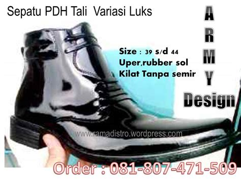 Sepatu Pdh Bandung sepatu pdh miiiter army tni kilap kulit asli ramadistro