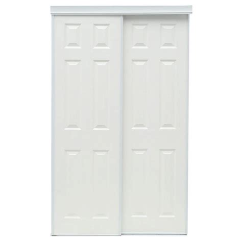Truporte Closet Doors by Truporte 48 In X 80 In 106 Series Composite White
