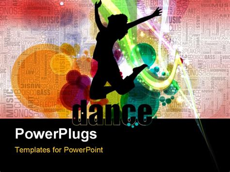 Powerpoint Template Silhouette Of Lady Dancing Over Event Ppt Templates Free