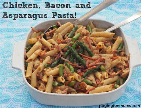 creamy chicken bacon asparagus pasta