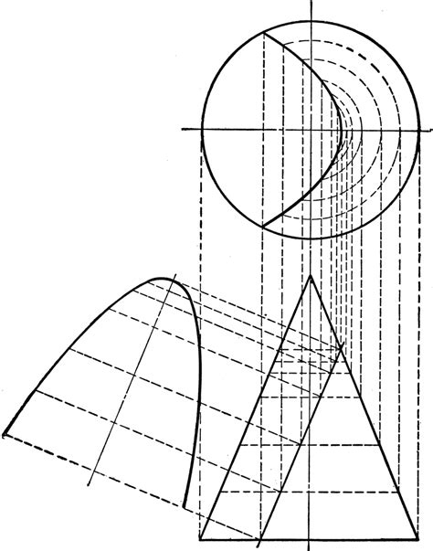 conic sections parabola conic section showing parabola clipart etc