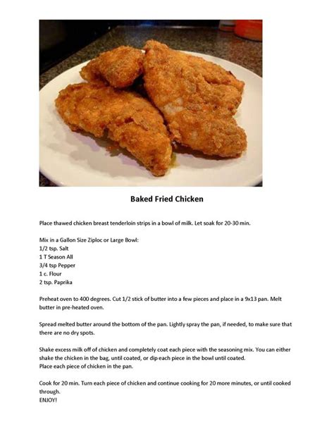 baked fried chicken kentucky fried chicken recipe favorite recipes pinterest