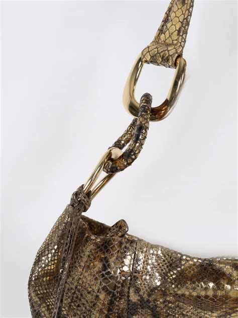 Shopping Gold Python Blackberry Purse by Michael Kors Metallic Gold Python Style Shoulder Bag
