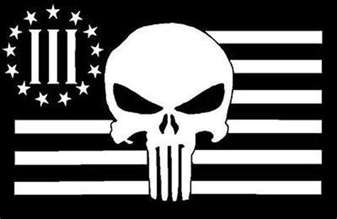 punisher skull three percenter tactical patch nra 3