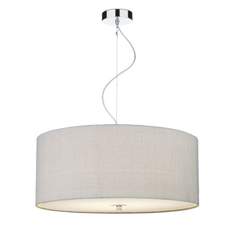 grey ceiling light ceiling pendant light shade in silver grey silk high