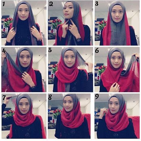tutorial hijab online tutorial hijab styles with two scarves hijabiworld