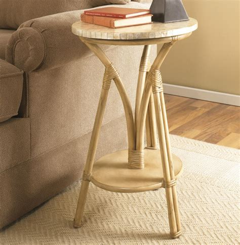 Apartments: Cool Bamboo Accent Small Round Table Top With