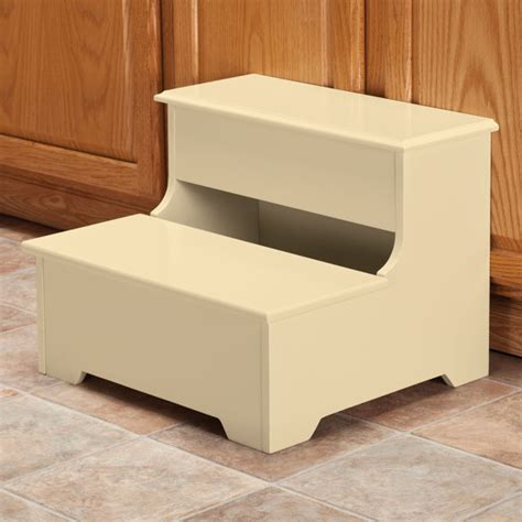 Wooden Step Stool With Storage by Wooden Storage Step Stool Wooden Step Stool Kimball