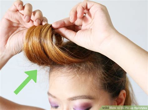 How To Do Pin Up Hairstyles by 3 Ways To Do Pin Up Hairstyles Wikihow