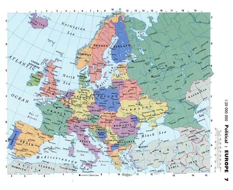 political map of europe with capitals maps of europe and european countries political maps