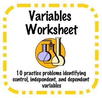 Independent And Dependent Variables Worksheet Middle School by Identifying Independent And Dependent Variables Worksheet