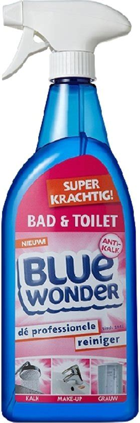 toilet schoonmaken hardnekkig bol blue wonder 750 ml bad toilet spray