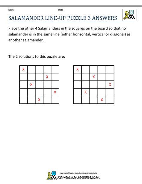 printable puzzles grade 3 math puzzle worksheets 3rd grade