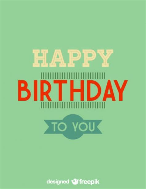happy birthday vintage design happy birthday minimalist retro card design vector free