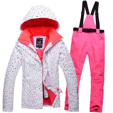 free shipping 2016 white dot ski jacket s winter