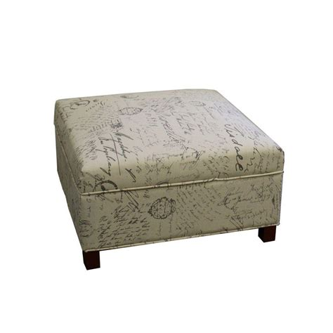 beige storage ottoman ore international beige storage ottoman hb4483 the home
