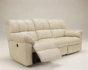 White Leather Recliner Sofa Kennard White Leather Contemporary Plush Reclining Sofa Loveseat Ebay