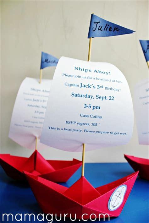 origami boat invitation spectacular boat party invitations mamaguru