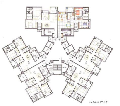 residential plan high rise residential floor plan google search great