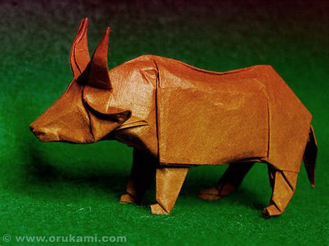 Bull Origami - beautiful exles of origami paper hongkiat