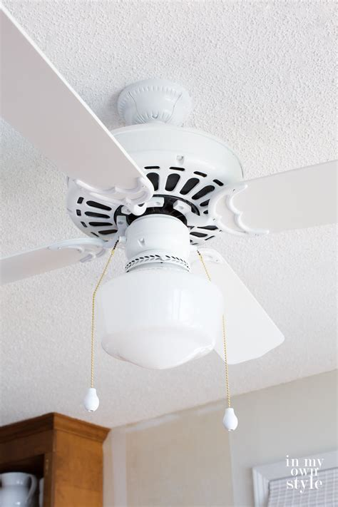How To Paint A Ceiling Fan Spray Paint Ceiling Fan