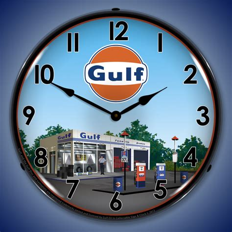 station lighted gulf wall clocks lighted gulf clock lighted wall
