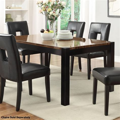 kitchen tables black coaster 103611 black wood dining table a sofa
