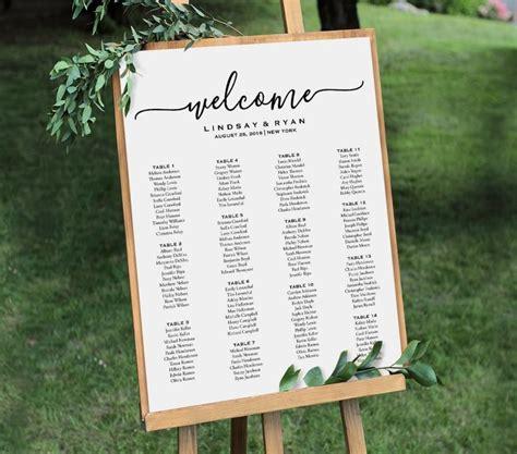 wedding seating sign template welcome wedding seating chart sign printable seating plan