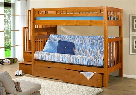 bunk beds with mattress included stairway bunk with staircase with futon with ubc innovations