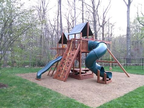 elite swing set installation 1000 images about swing set installation gallery on pinterest
