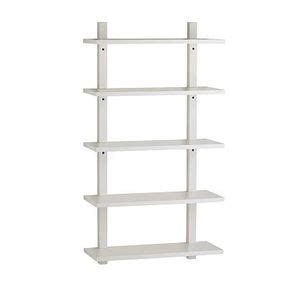 West Elm Wall Mounted Bookcase Tall White Lacquer By Wall Mounted Bookcase White