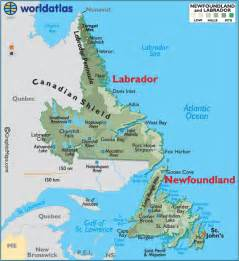 map of labrador canada world by shotglass newfoundland and labrador