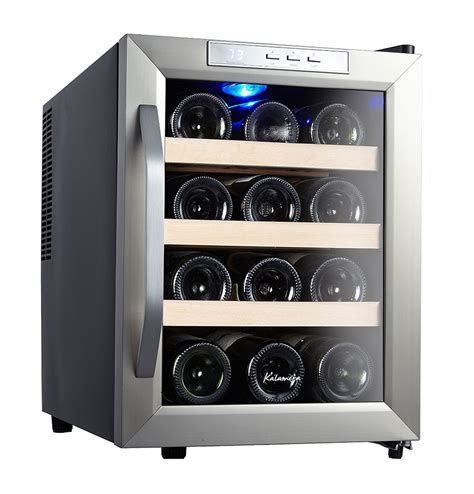 To Market Recap Wine Cooler by Kalamera 12 Bottle Counter Top Stainless Steel Wine Cooler