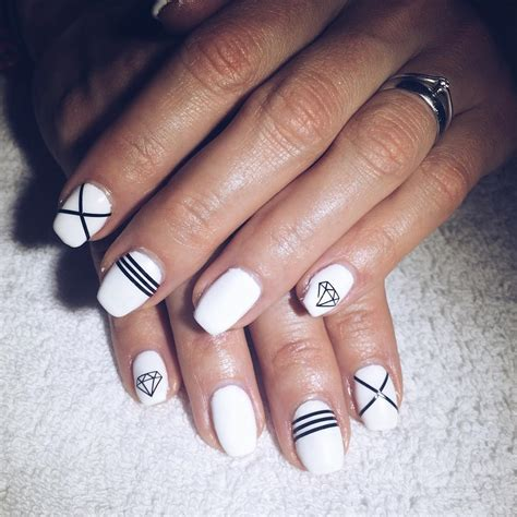 white and black pattern nails 27 white and black nail art designs ideas design