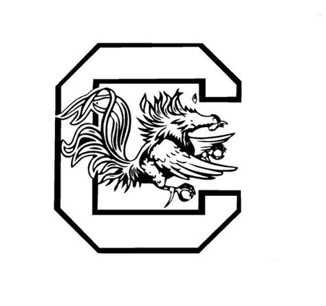 Gamecock Coloring Pages south carolina gamecocks vinyl decals stuff cricut silhouettes and svg file