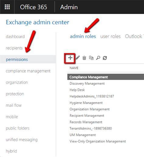 Office 365 Portal Administrator Roles Crm Integration With Office 365 S Exchange