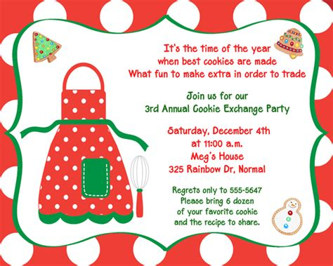 8 best images of cookie swap printable invitation template