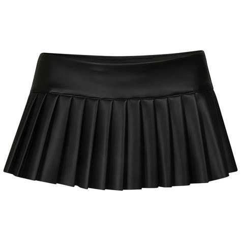 new pvc mini micro pleated skirt length 8