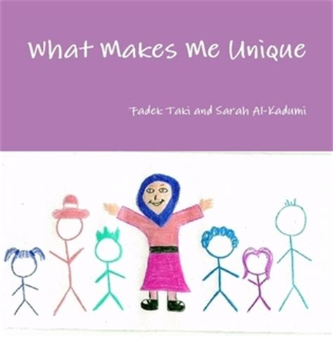 Unique Me what makes me unique by fadek taki paperback lulu