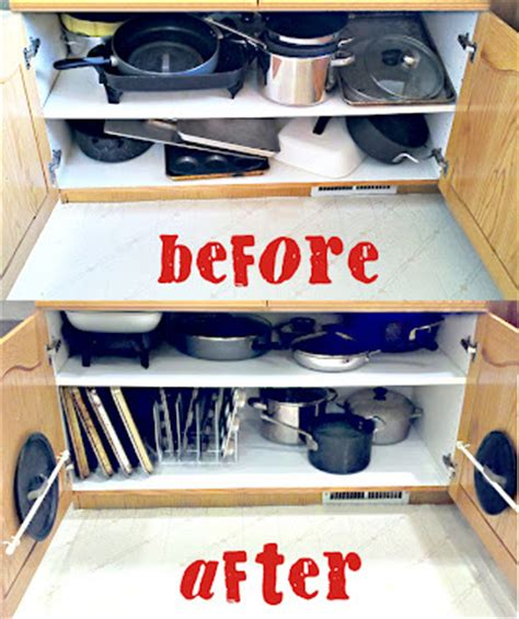 organize pots and pans organizing the dreaded pots pans cabinet pinlavie com