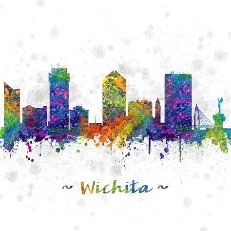 kansas colors wichita kansas skyline color 03sq digital by aged pixel