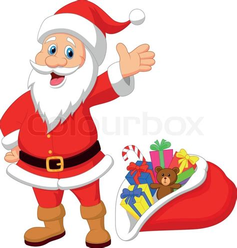 santa claus phone number email address find out here vector illustration of happy santa clause cartoon with