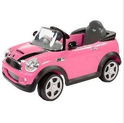 pink kid car ride on car jeep kids toy play push boys girls