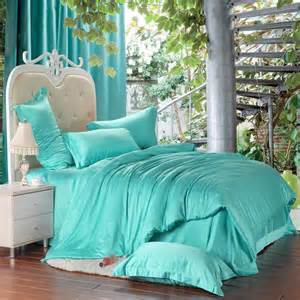 How To Wash Silk Duvet Bright Turquoise Green Solid Pure Color Western Style