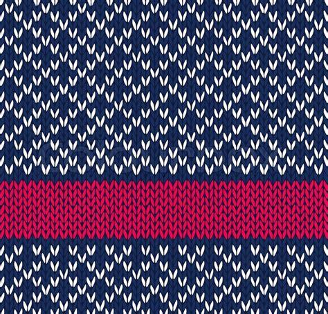 Muster Blau Rot Stil Nahtlose Blau Wei 223 Rot Gestrickte Vektors Muster Vektorgrafik Colourbox