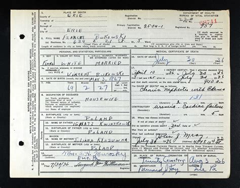 Pennsylvania Records Prior To 1906 Forum Polishorigins View Topic Surnames On Pa Certificate